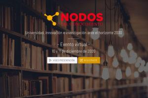 """Participación en el congreso """"Nodos del Conocimiento: Universidad, innovación e investigación ante el horizonte 2030"""" @ UNIZAR/Egregius"""